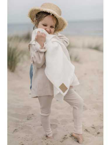 Hooded linen beach towel