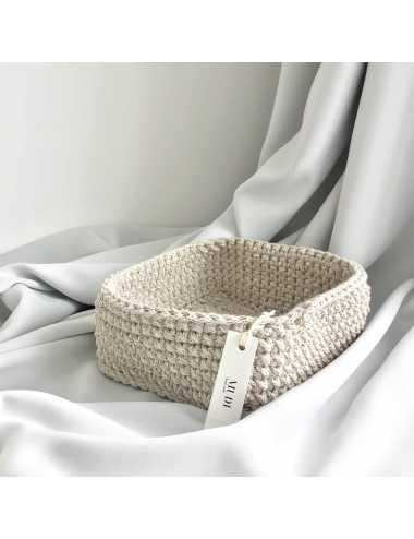corbeille au crochet | beige