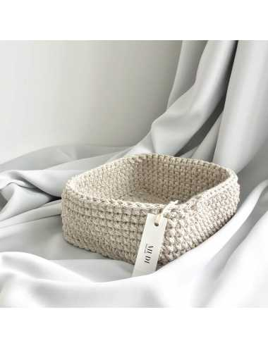 crochet basket | beige