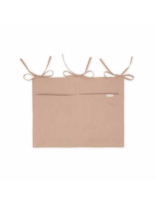 Mallino linen crib organiser | cinnamon