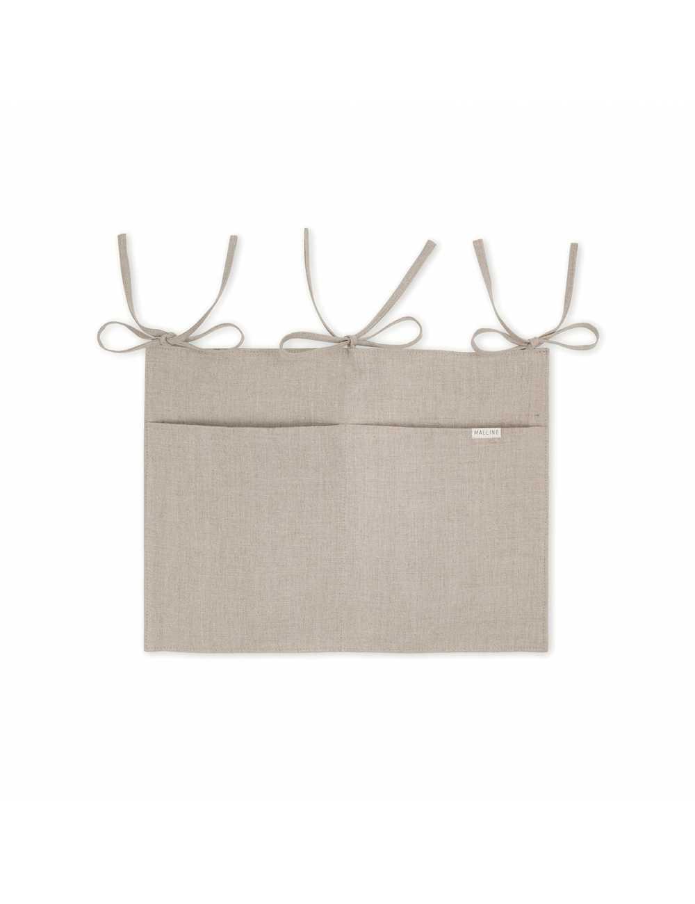 Mallino linen crib organiser | naturaltest