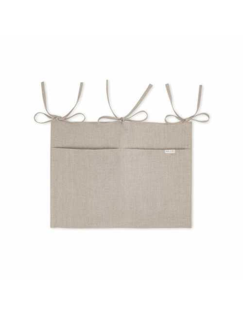 Mallino linen crib organiser | natural