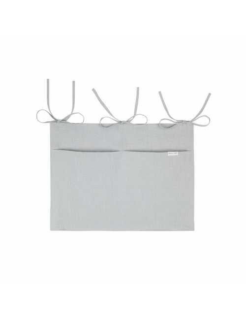 Mallino linen crib organiser |misty grey