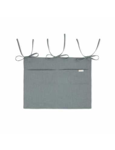 Mallino linen crib organiser | steel blue