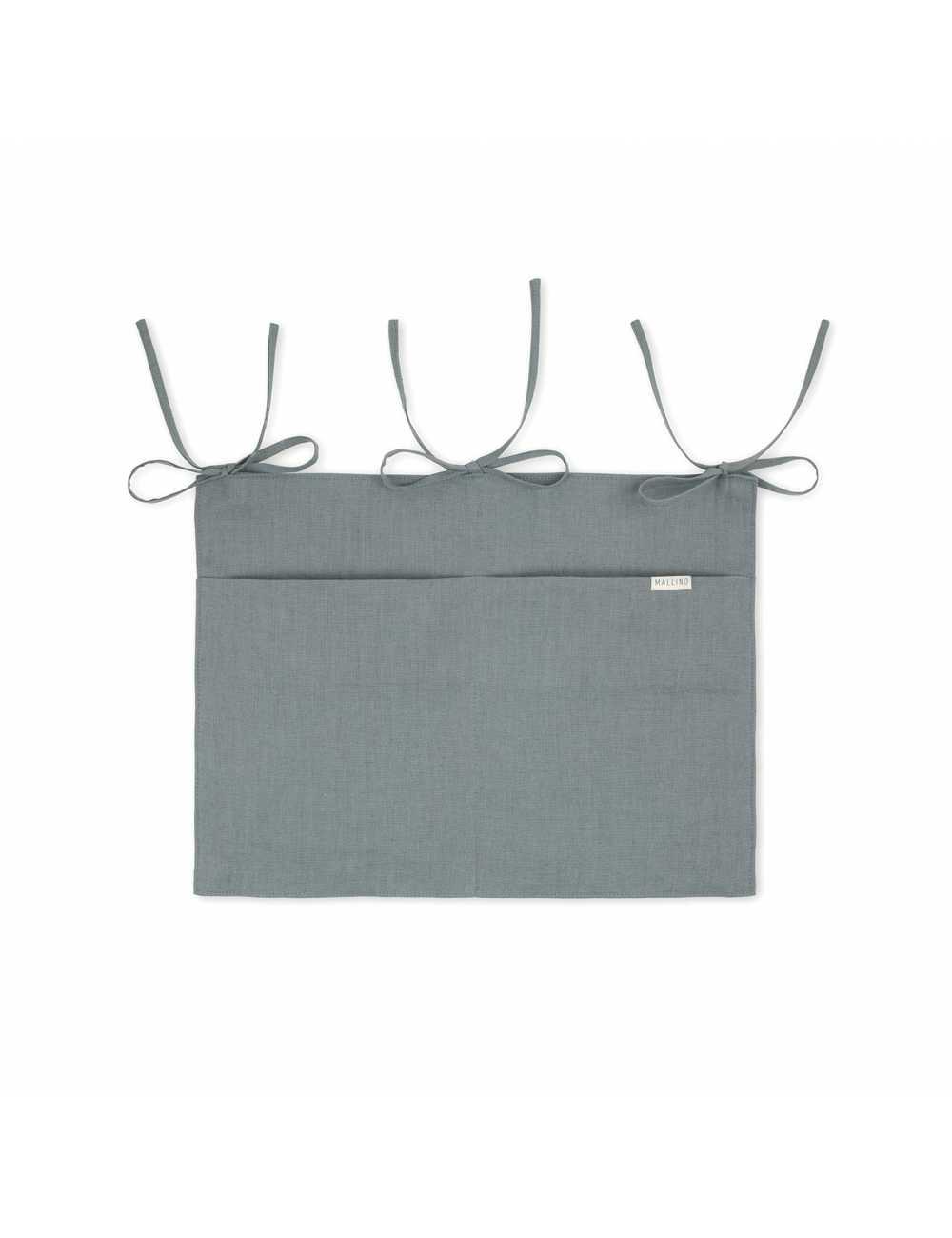 Mallino linen crib organiser | steel bluetest