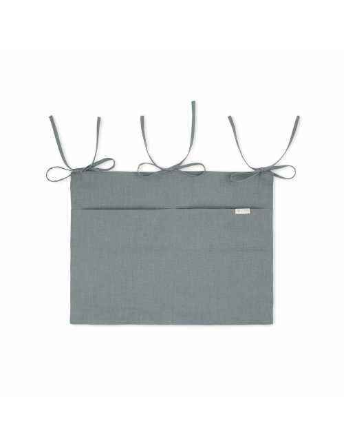 Linen crib organiser | steel blue