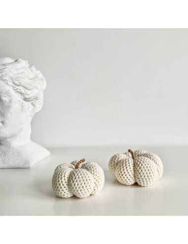 Décoration au crochet courge | crème