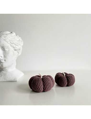 Décoration au crochet courge | brun foncé