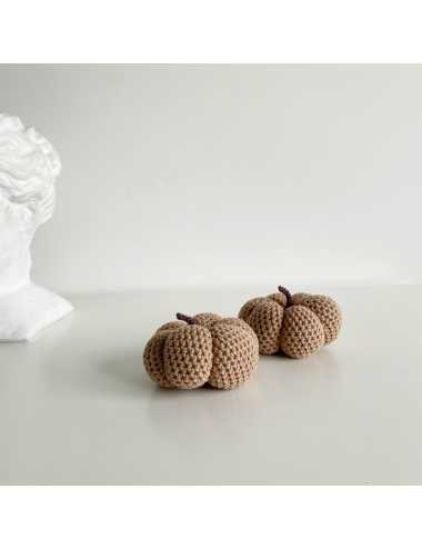 Crocheted decoration pumpkin | light brown