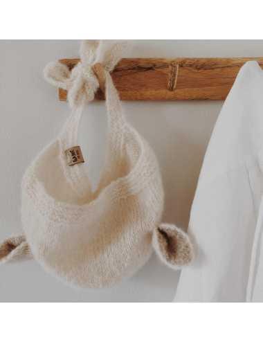 Baby bonnet silk and alpaca | cream
