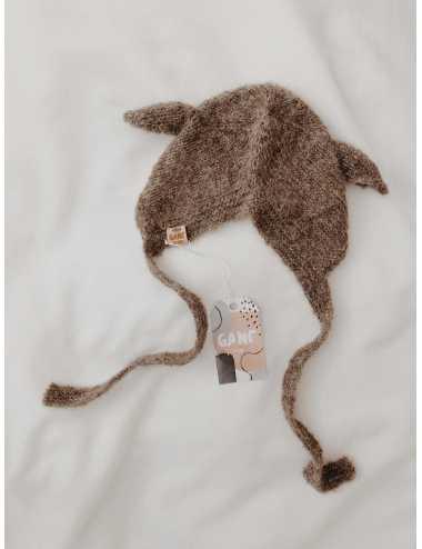 Baby bonnet silk and alpaca | cocoa