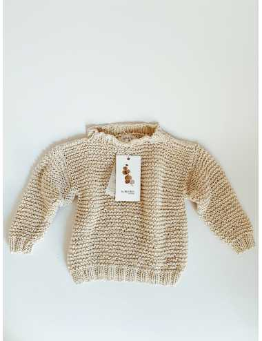Organic cotton baby sweater | cream