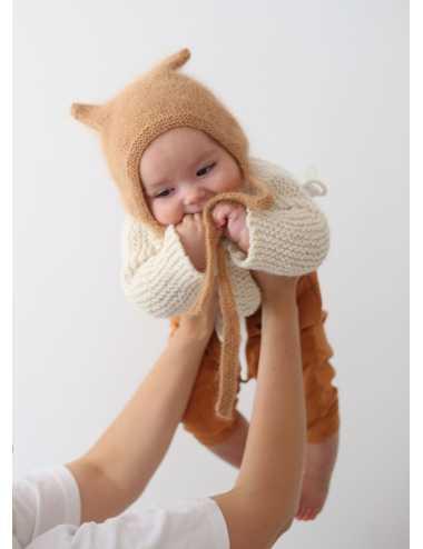 Bambolina kitty hat 100% angora | camel