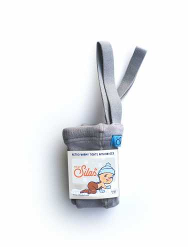 Collants chauds Silly Silas | gris perle