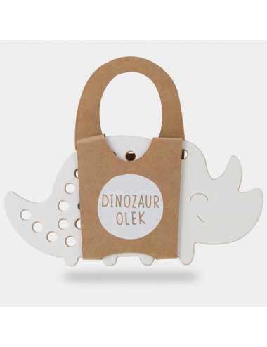 Montessori wooden lacing toy | Dinosaur Olek