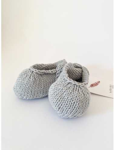 Knitted booties | light grey