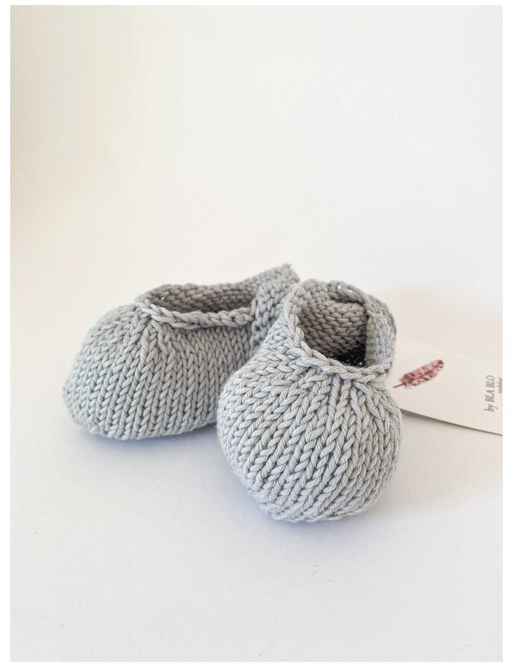Knitted booties | light greytest