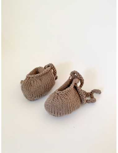 Knitted booties | earthy