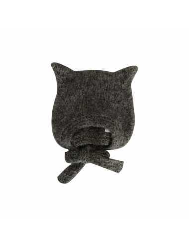 Bambolina kitty hat   dark grey