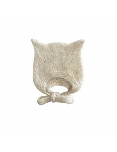 Bambolina kitty hat   ivory