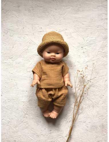 Clothes for Minikane dolls 34 cm | Raffia hat
