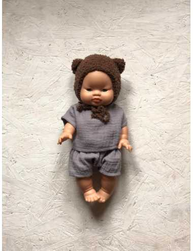 Clothes for Minikane dolls 34 cm | Bear hat