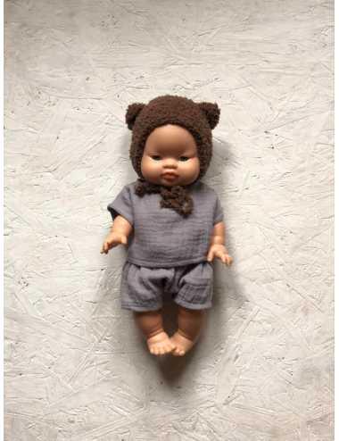 Clothes for Minikane dolls 34 cm | grey set