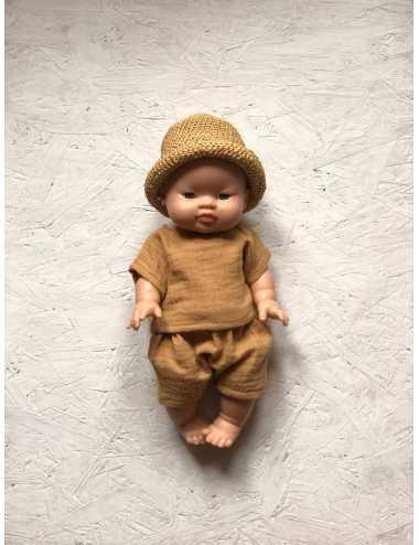 Clothes for Minikane dolls 34 cm   caramel set