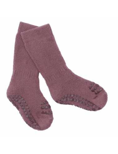Non-slip socks | misty plum
