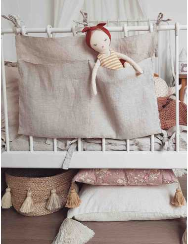 Linen crib organiser | natural