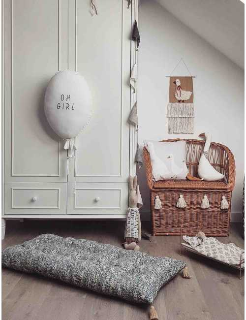 Cotton mattress | vintage flowers
