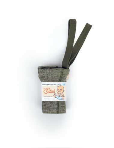 Collants sans pieds Silly Silas avec bretelles | creamy olive
