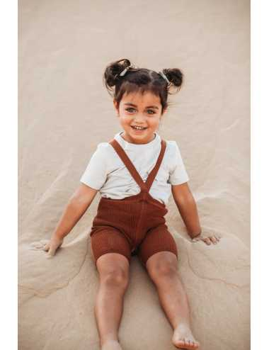 Silly Silas shorty tights with braces   cinnamon