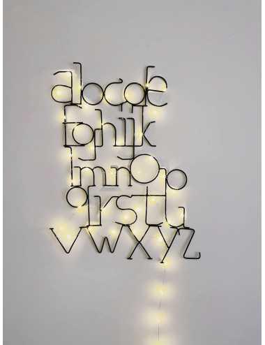 Alphabet lamp