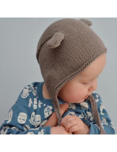 Bonnet pour bébé avec des oreilles d'ourson | brun