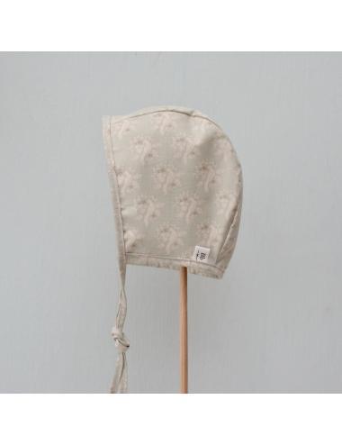 Cotton baby bonnet | bird mint
