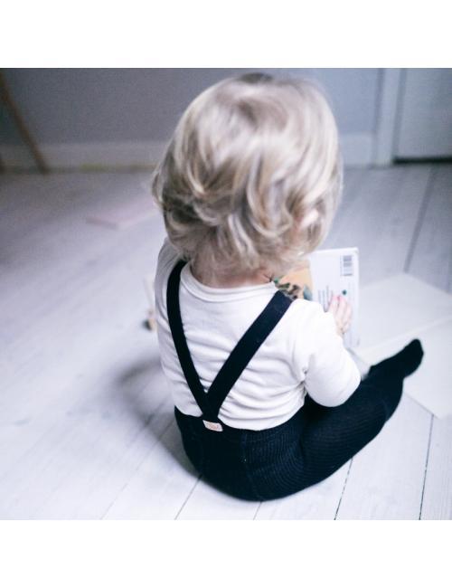 Silly Silas collants avec bretelles | noir