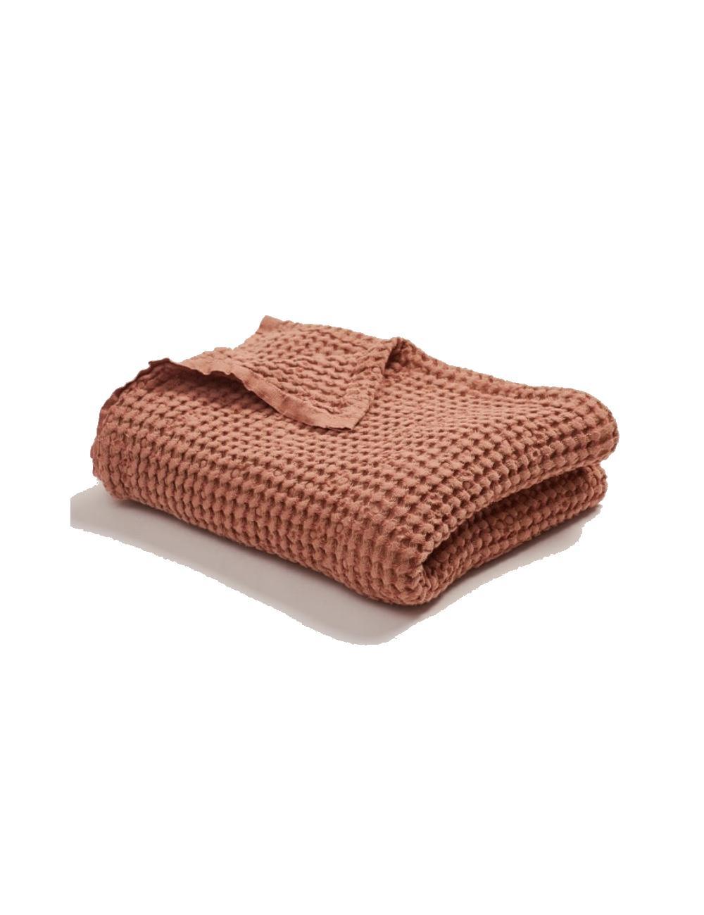 Linen cotton waffle blanket | bricktest
