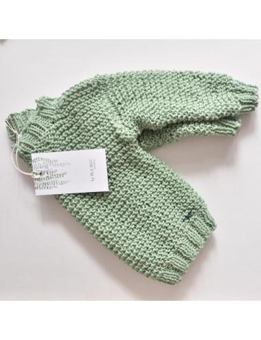 Hand-knitted baby sweater | mint