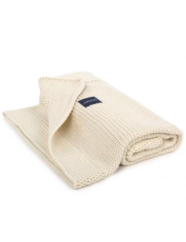 Couverture pour bébé en tricot | blanc cassé