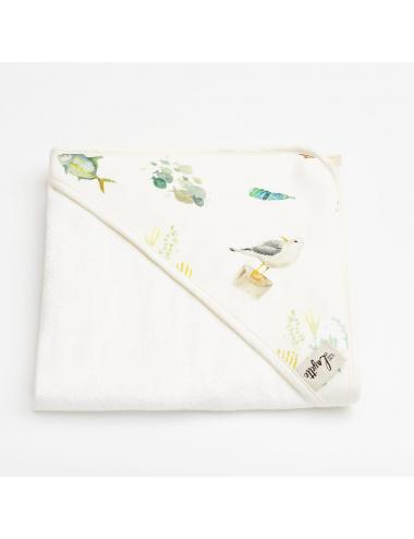Hooded baby towel | sea