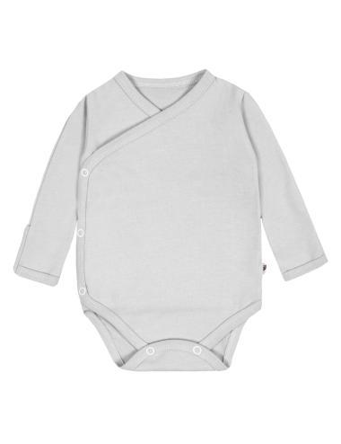 Kimono baby bodysuit long-sleeve | grey