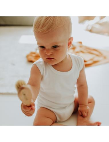 Tank-top infant bodysuit | white