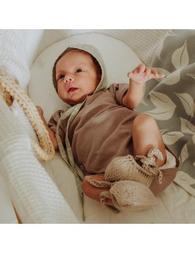 Body kimono pour bébé à manches courtes   rose vintage