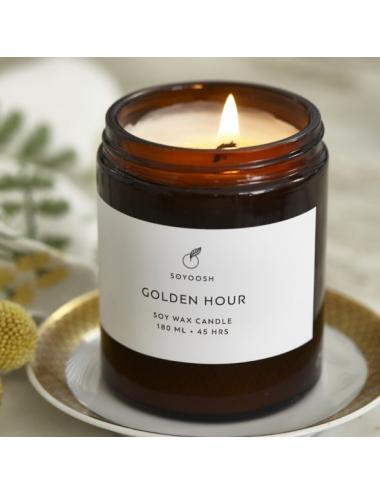 Bougie de soja et huiles essentielles 180ml | Golden Hour
