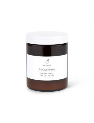 Bougie de soja et huiles essentielles 180ml | Eucalyptus