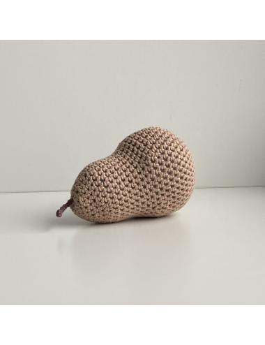 Décoration au crochet, poire   brun