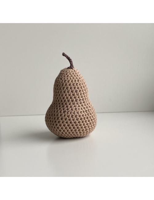 Crocheted decoration pear | brown
