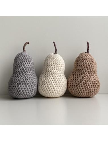 Crocheted decoration pear | cream
