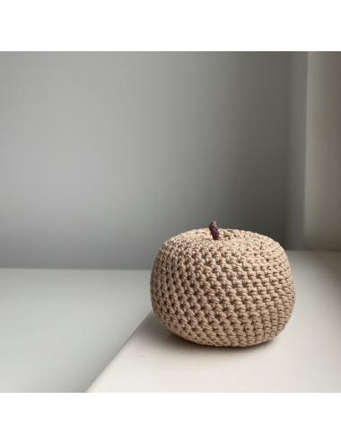 Crocheted decoration apple | brown